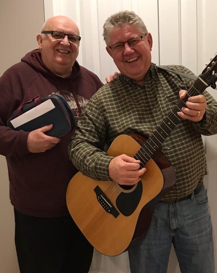 Ken Nedohin with guitar