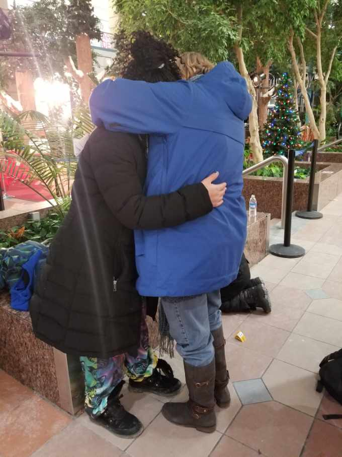 Portage Place Mall Hugs